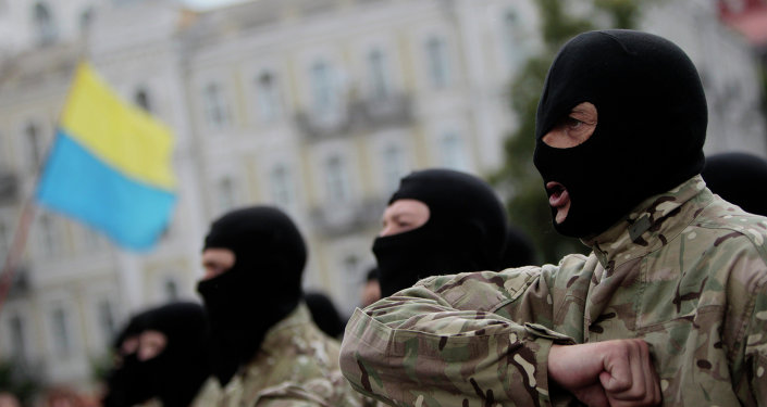 Los radicales paramilitares ucranianos (imagen referencial)