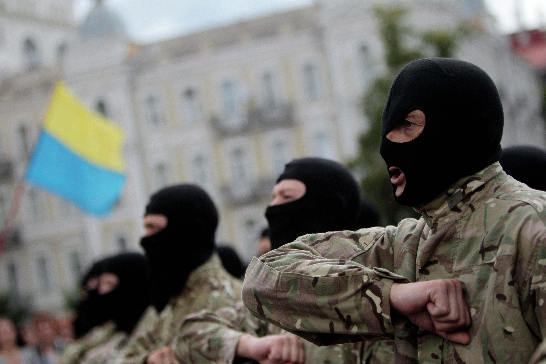 Efectivos del batallón Azov