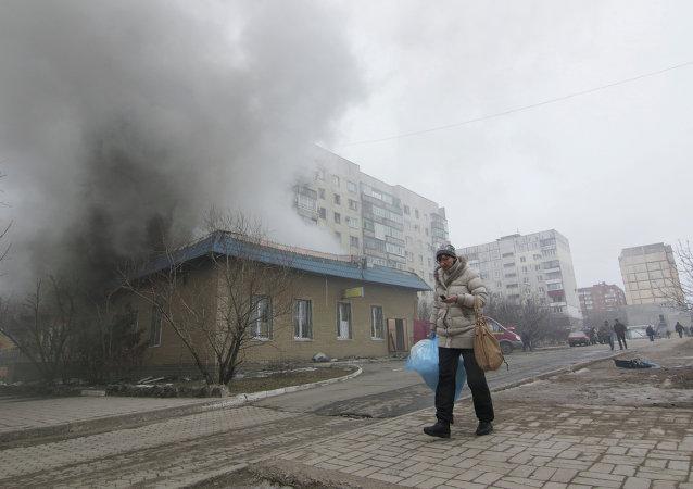 Bombardeo de la ciudad de Mariúpol