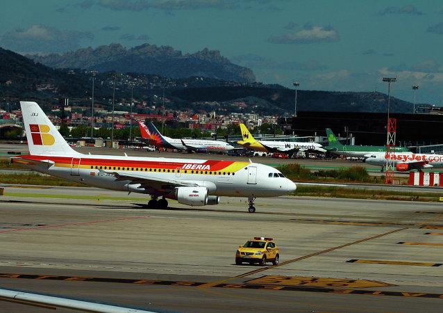 Avion de la aerolínea española Iberia