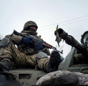 Soldado del ejército ucraniano (archivo)