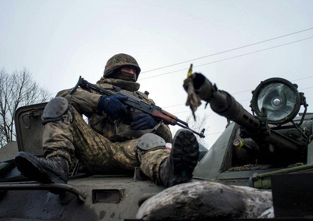 Soldado del ejército ucraniano
