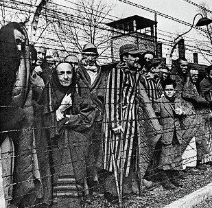 Presos del campo de concentración Auschwitz