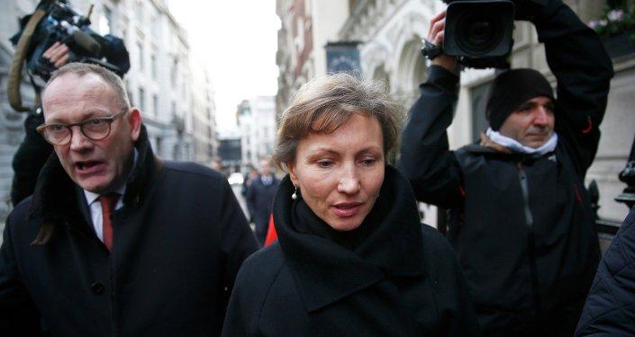 Marina, viuda del ex oficial del KGB Alexandr Litvinenko