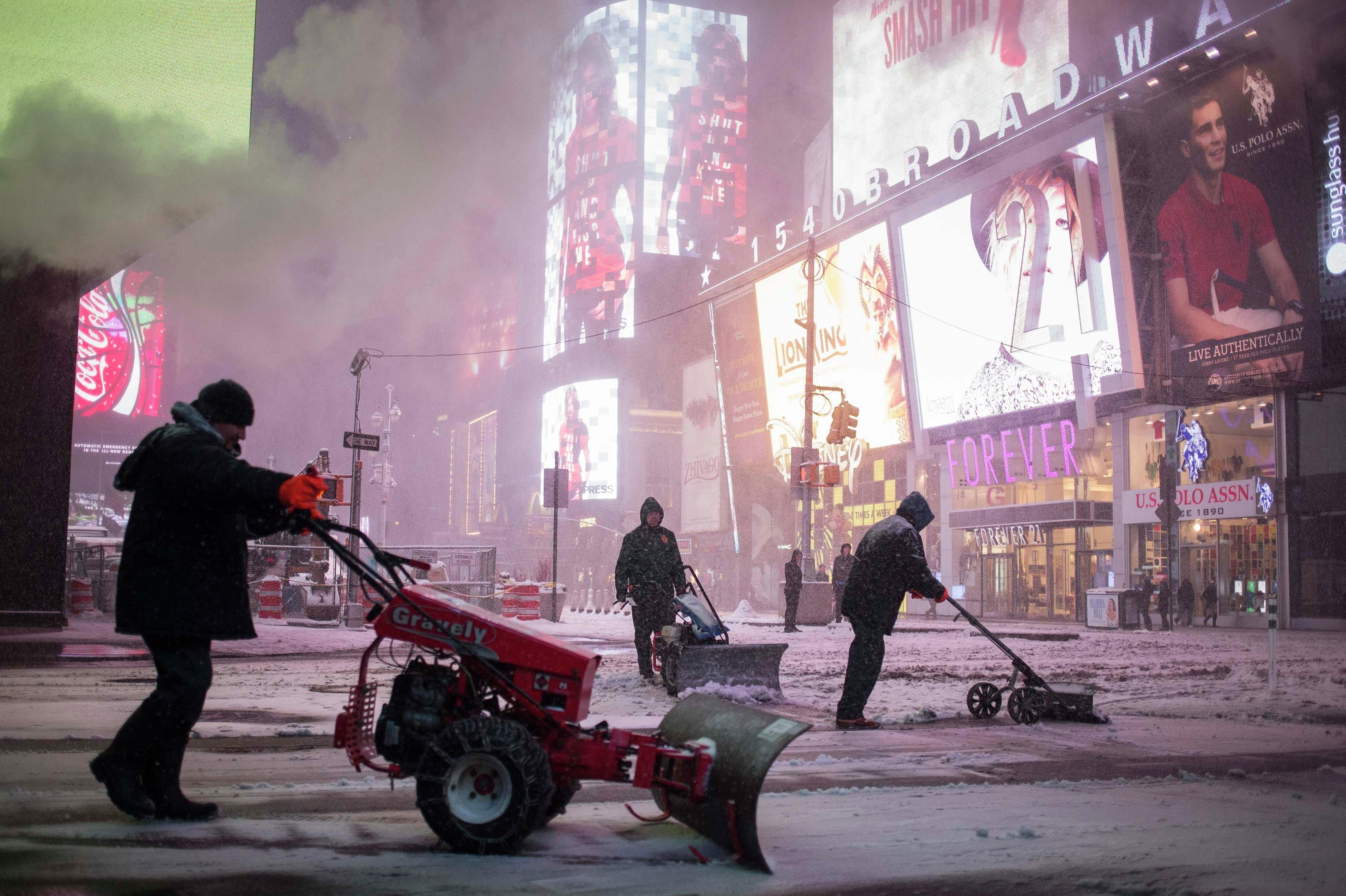 Tormenta de nieve congela Nueva York