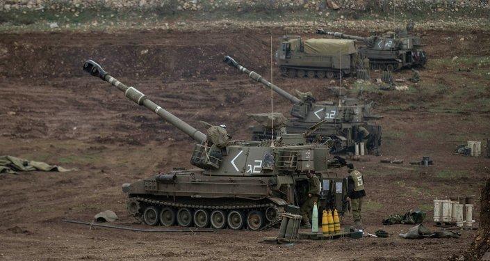 La artillería de las FFAA de Israel (archivo)