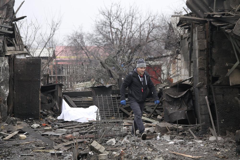 Donetsk después de los bombardeos