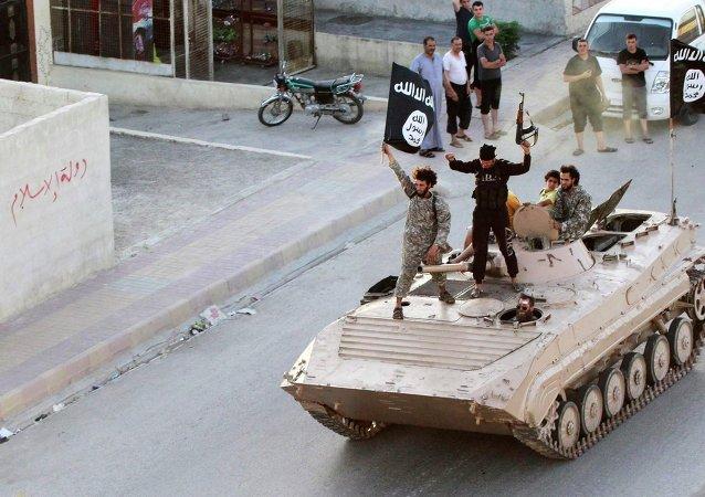 Miembros del grupo terrorista Estado Islámico