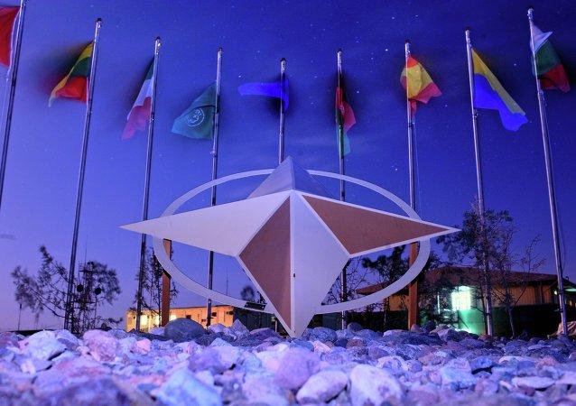 Banderas de los paises- miembros de la Alianza Atlántica