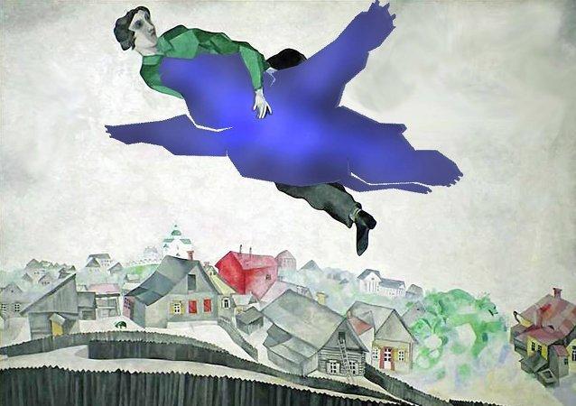 Un cuadro retocado de Marc Chagall