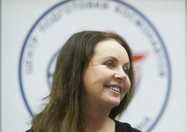 Sarah Brightman en el Centro de Entrenamiento de Cosmonautas Gagarin