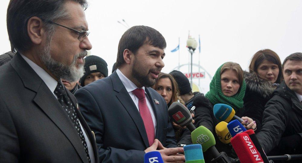 Denís Pushilin, representante de la autoproclamada República Popular de Donetsk