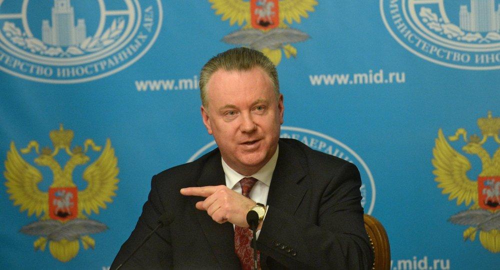 Aleksandr Lukashévich, portavoz de la Cancillería de Rusia