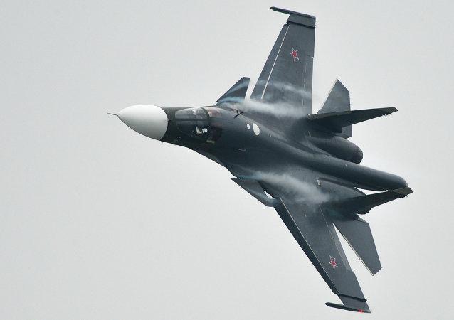 Caza Su-34 de la Fuerza Aérea de Rusia (archivo)