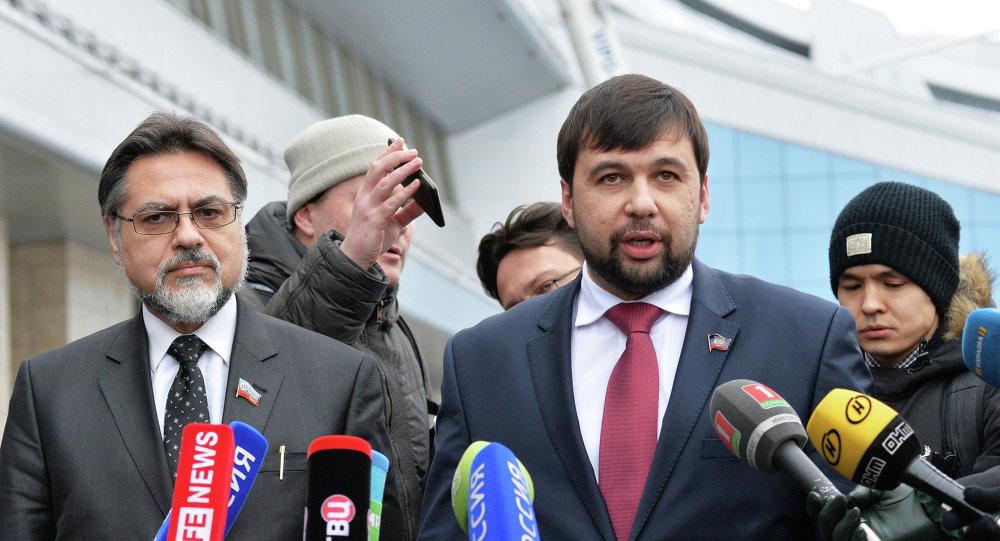 Negociadores de Donbás, Vladislav Deinego y Denís Pushilin