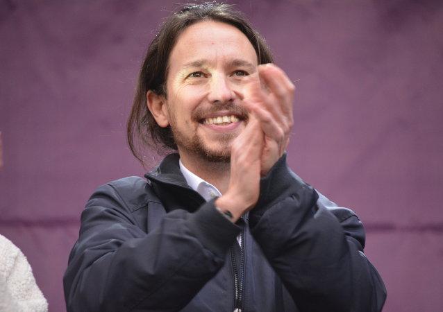 Pablo Iglesias, secretario general de la organización progresista española Podemos