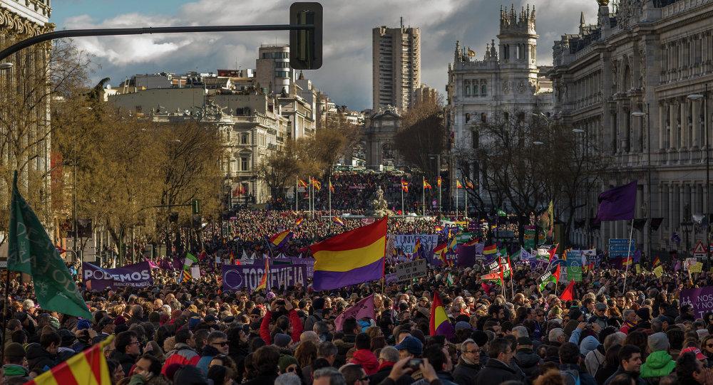 Marcha del Cambio en Madrid el 31 de enero, 2015