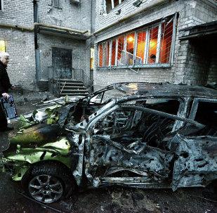 Donetsk después de los ataques del domingo