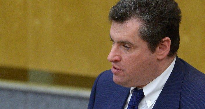 Leonid Slutski, diputado de la Duma de Estado de Rusia y presidente del comité parlamentario de Asuntos Exteriores