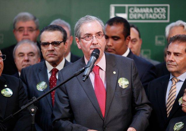 Eduardo Cunha, presidente de la Cámara de los Diputados de Brasil