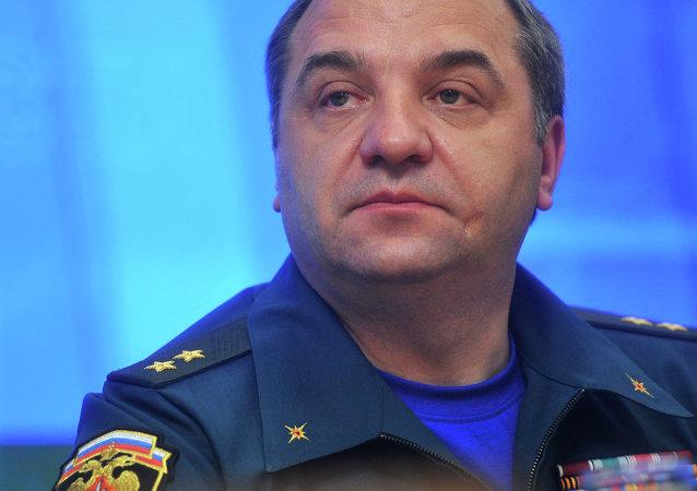 Vladímir Puchkov, ministro de Emergencia de Rusia
