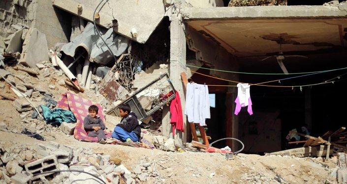 Un chico palestino (archivo)