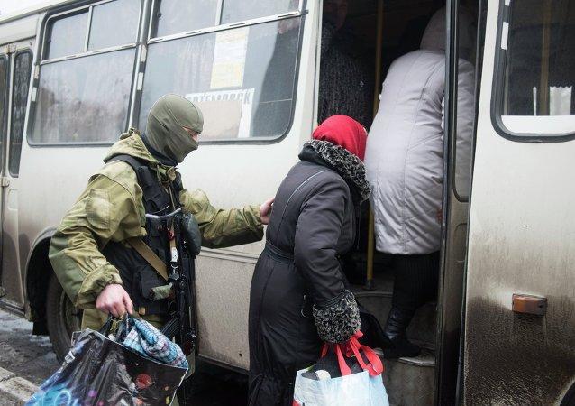 Evacuación de civiles en Debáltsevo