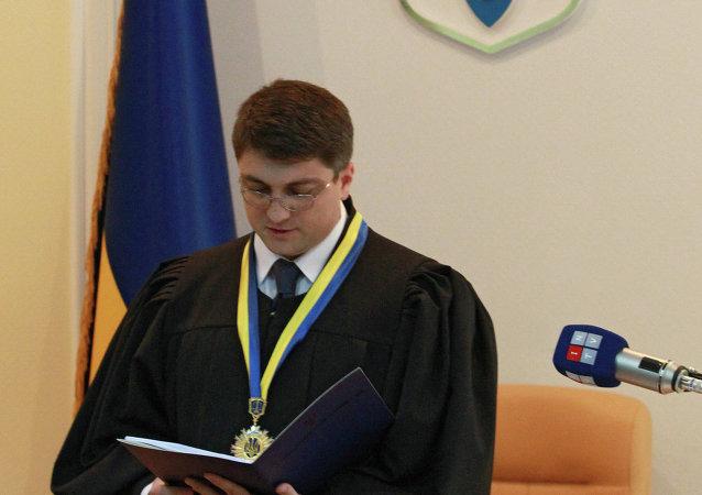 Rodión Kiréev, juez de un tribunal de Kiev que condenó en 2011 a la ex primera ministra Yulia Timoshenko a siete años de cárcel (archivo)