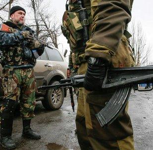 Milicias prorrusos en el este de Ucrania