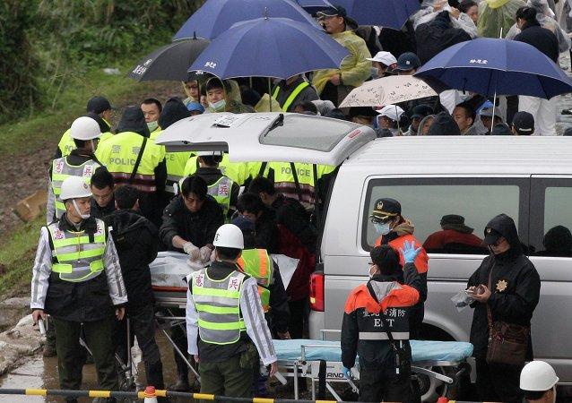 Asciende a 40 el número de muertos en el siniestro del avión en Taiwán