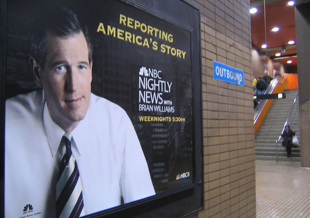 Cartel para Nightly News con Brian Williams