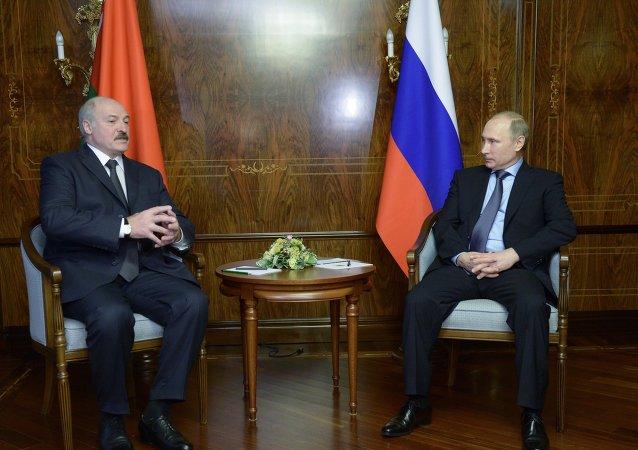 Reunión entre Putin y Lukashenko (archivo)
