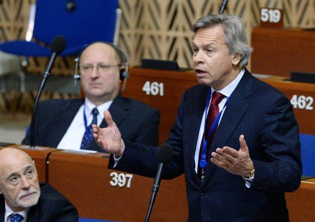 Alexéi Pushkov, jefe del Comité de asuntos internacionales de la Cámara Baja del Parlamento ruso