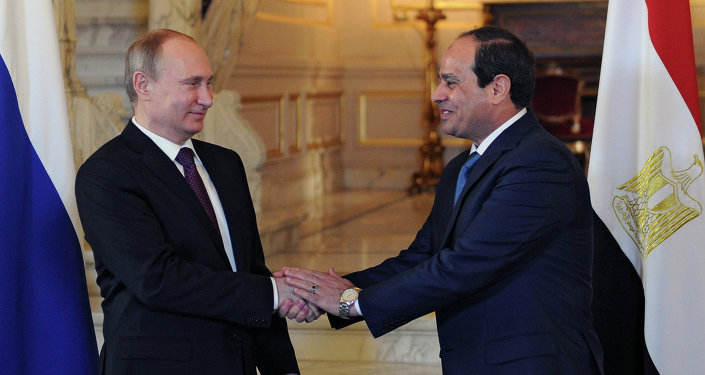 Presidente de Rusia, Vladímir Putin y presidente de Egipto, Abdelfatah al Sisi (archivo)