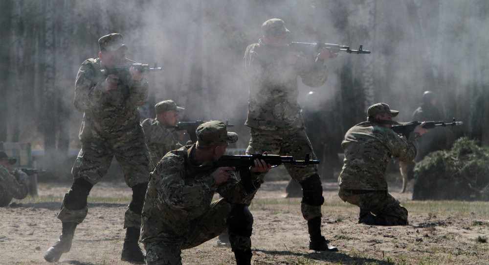 Militares de la Guardia Nacional de Ucrania