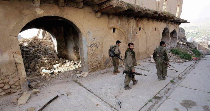 Militantes del Partido de los Trabajadores del Kurdistán (PKK)