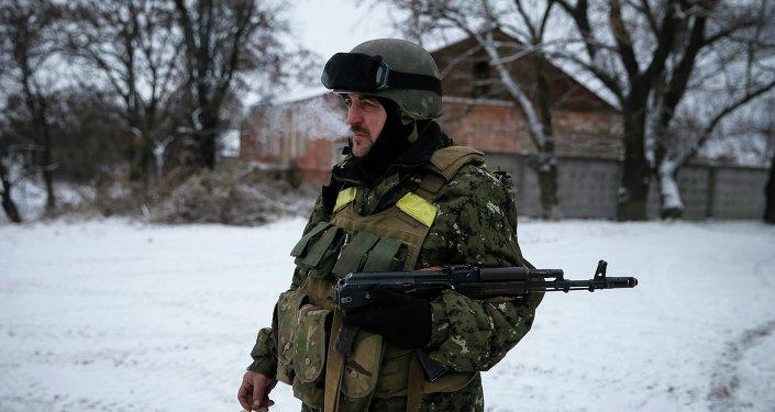 Soldado ucraniano en Debáltsevo
