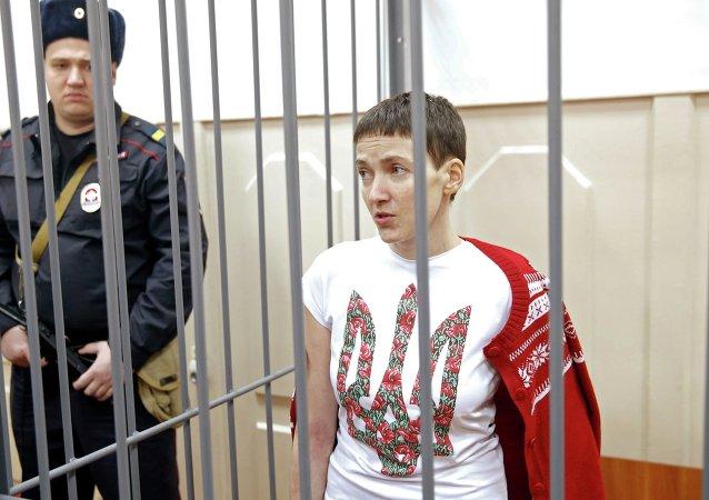 Nadezhda Sávchenko, piloto ucraniana acusada de estar involucrada en la muerte de periodistas rusos