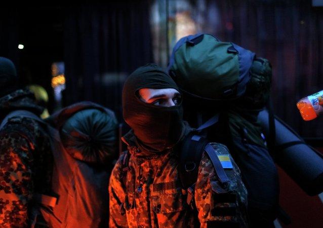 Efectivo del batallón Azov