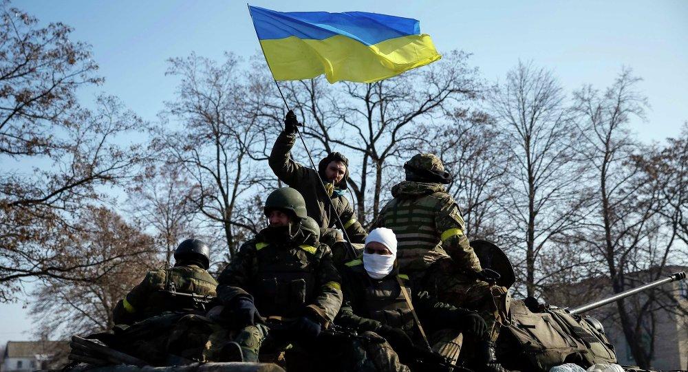 Soldados ucranianos en Debáltsevo