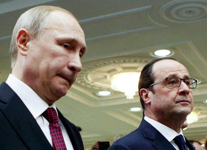 Los líderes de Rusia, Francia, Ucrania y Alemania en la cumbre de Minsk