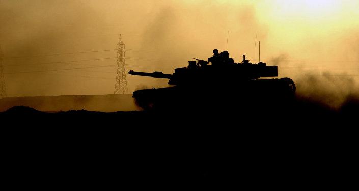 M1 Abrams tanque en Fallujah, Irak (Archivo)