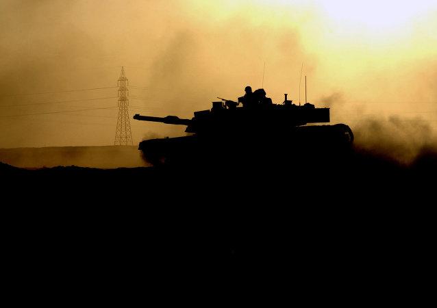 M1 Abrams tanque en Fallujah