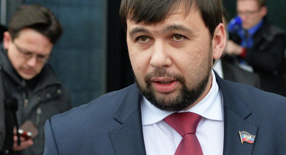 Denís Pushilin, vicepresidente del Parlamento de la autoproclamada República Popular de Donetsk