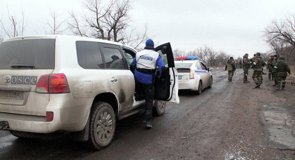 Observadores de la OSCE en Debáltsevo
