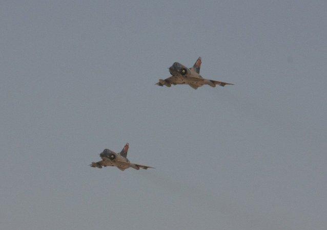 Dos cazas de la Fuerza Aérea de Egipto