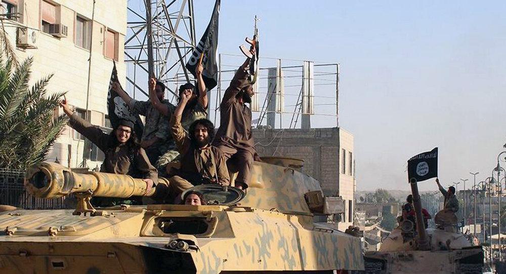Combatientes del grupo terrorista Estado Islámico