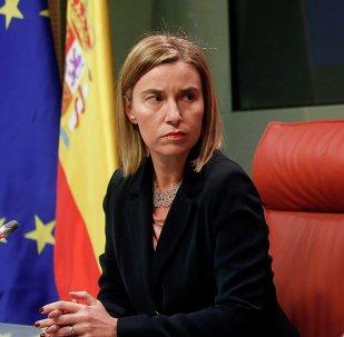 Alta Representante de la UE para la Política Exterior, Federica Mogherini y ministro de Asuntos Exteriores y Cooperación de España, José Manuel García-Margallo