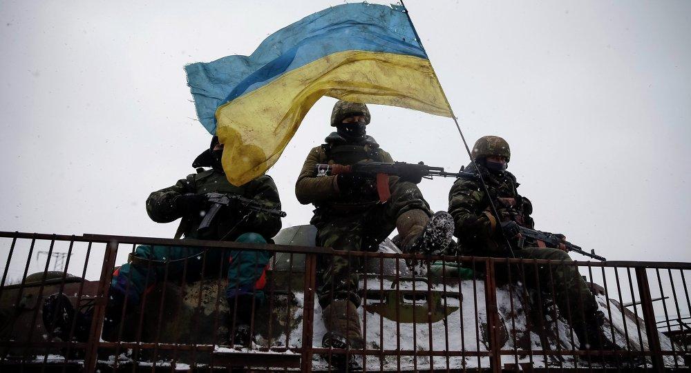 Los soldados ucranianos (archivo)