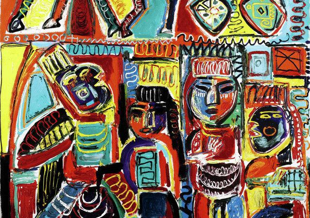 Una pintura de Javad Mir Javadov